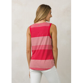 Prana Henley Camisa sin mangas Verano Mujer, Red Ribbon
